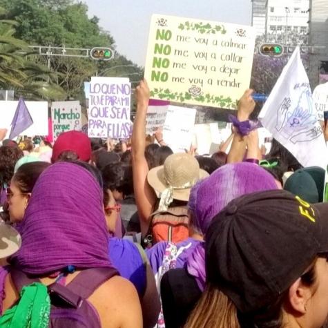 Marcha 8M, Ciudad de México. Foto: Lizeth Mora.