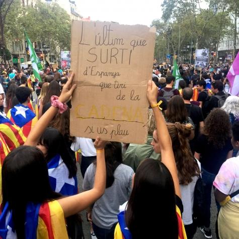 Manifestación en Barcelona el 18-10-2019. Foto: Joan Casanovas.