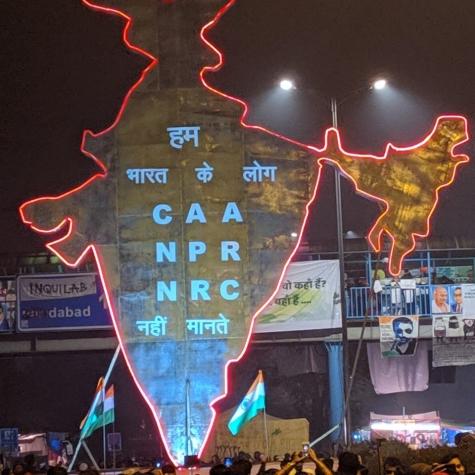 Protesta masiva en Shaheen Bagh, Delhi. Foto: Daniel Kent
