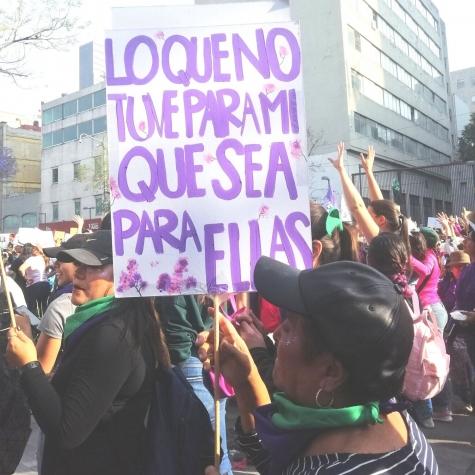 Marcha del 8M, Ciudad de México, 2020. Foto: Lizeth Mora